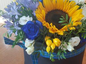 hatbox of flowers £45